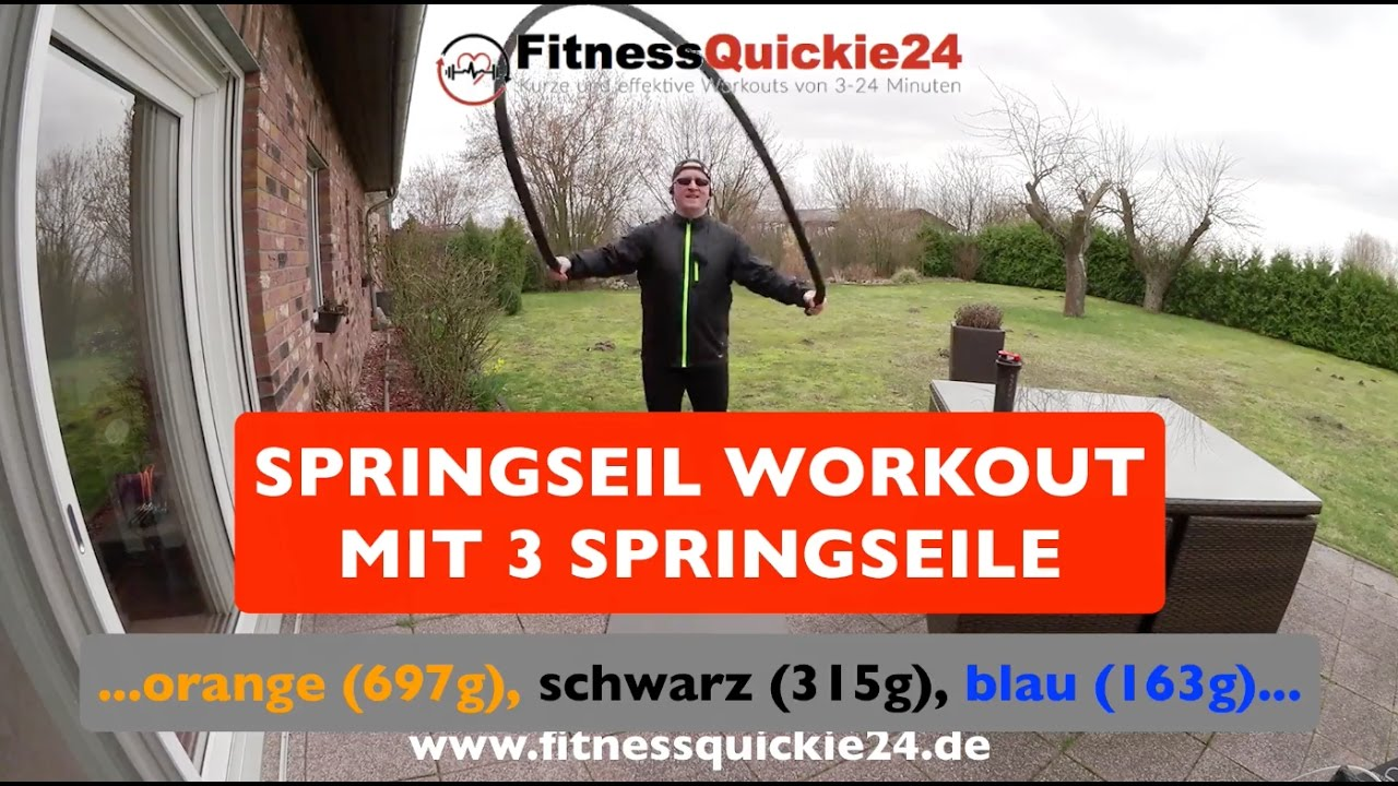 SEILSPRINGEN WORKOUT mit 3 Springseilen - YouTube