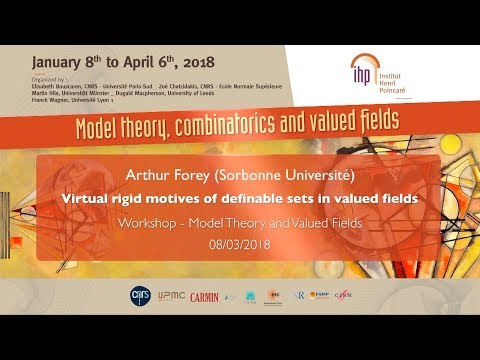 Virtual rigid motives of definable sets in valued fields - A. Forey - Workshop 2 - CEB T1 2018