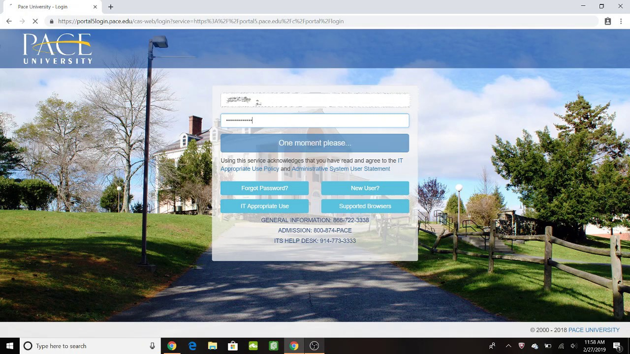 Pace University Westchester - Fall Returning Student Housing Application