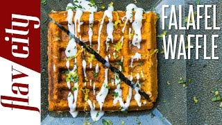 The Falafel Waffle - Epic Food Mashup Recipe