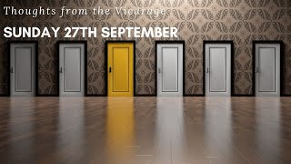 Thoughts from the Vicarage - Sunday 27th September