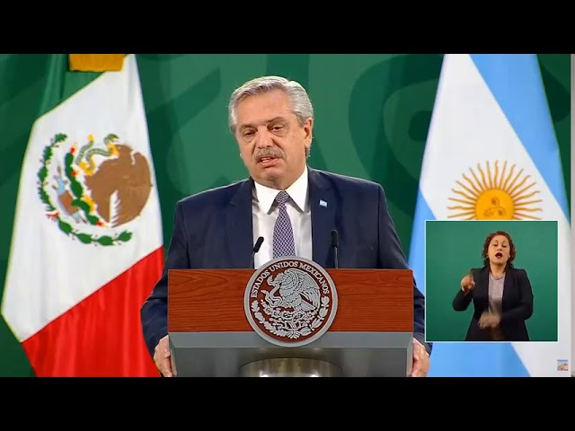 Alberto Fernández: Conferencia de Prensa México