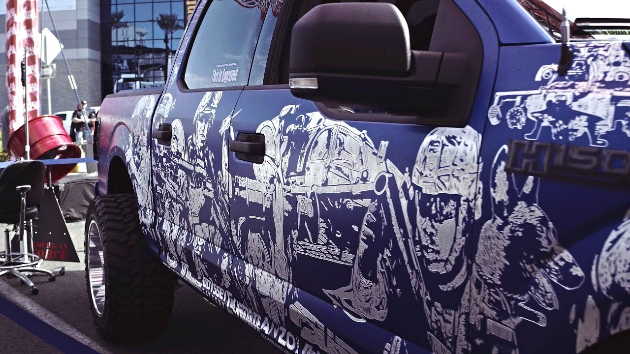 Quot Freedom Blues Quot Hand Engraved Custom 2016 Ford F 150 Sema