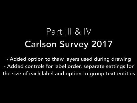 Carlson Survey 2017: Part III & IV