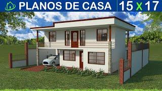 Diseños y Planos de Casas De Dos Pisos: Proyecto CDP K1 Recursos de Arquitectura