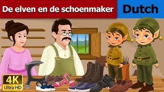 De elven en de schoenmaker | Elves and the Shoemaker in Dutch | 4K UHD | Dutch Fairy Tales