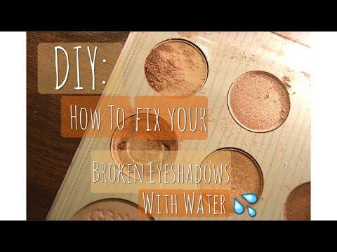 DIY: Fix Your Broken Eyeshadow Using Water |beautywithhafsi|