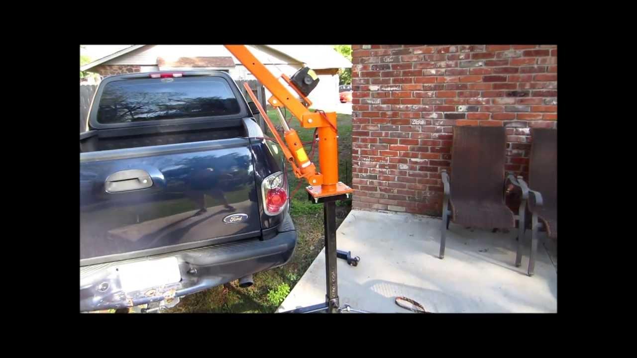 Homemade Bumper Crane Youtube