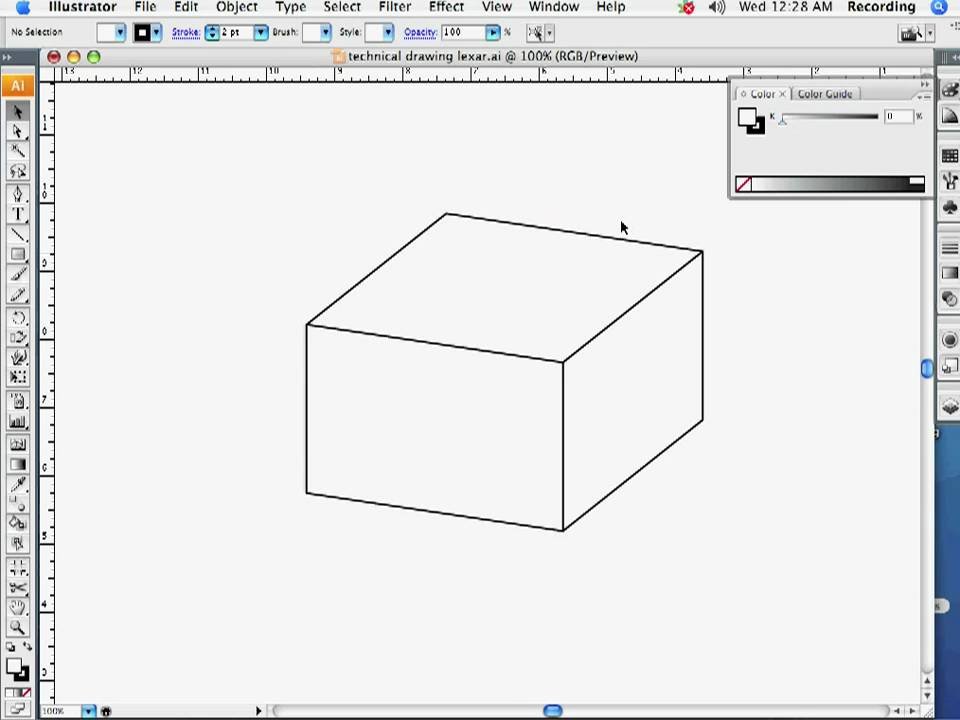 Technical Drawing in Adobe Illustrator Part 1 - YouTube