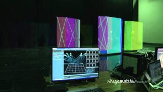 Screen tracking and projection for Perfume's live at Kouhaku 2015