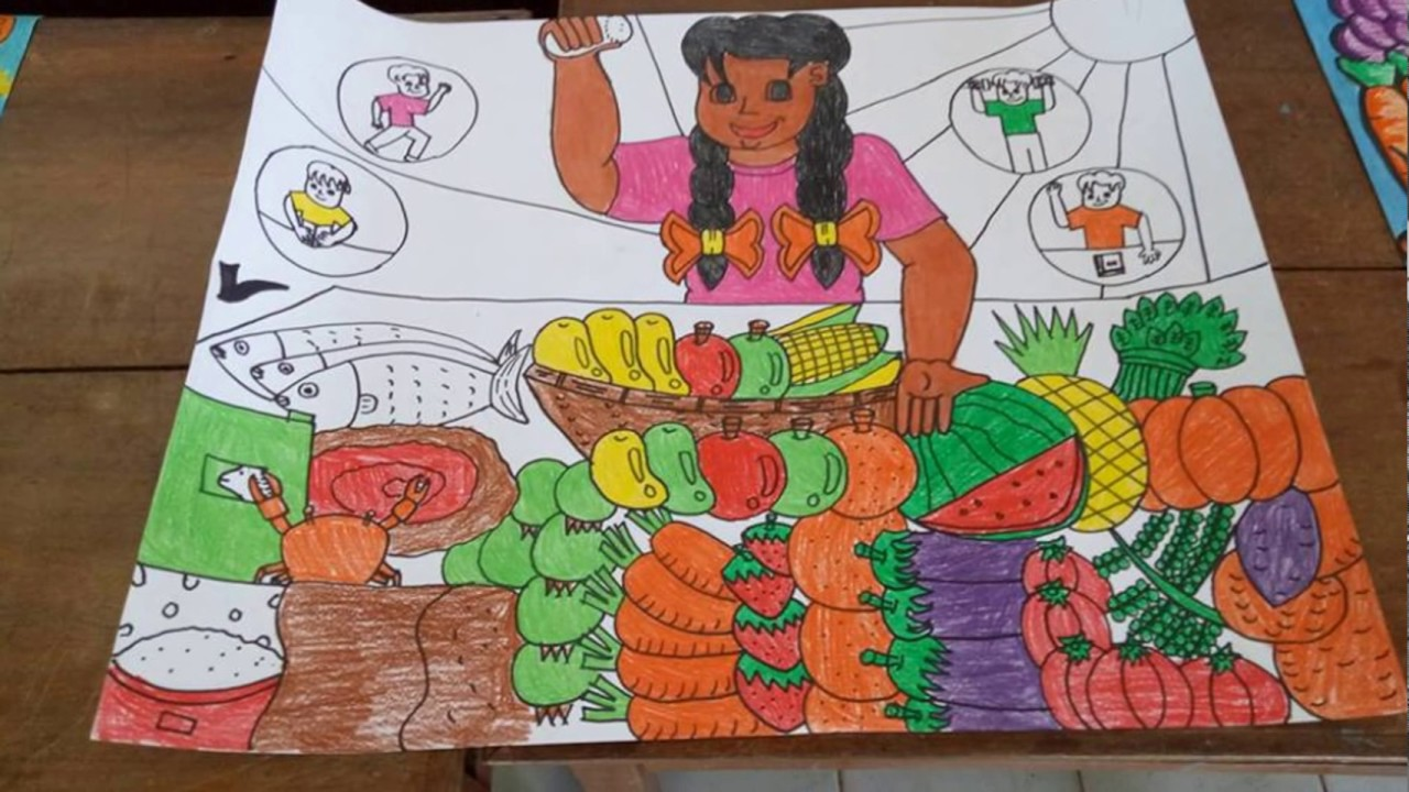 ballesteros dist poster making contest healthy diet gawing habit for life