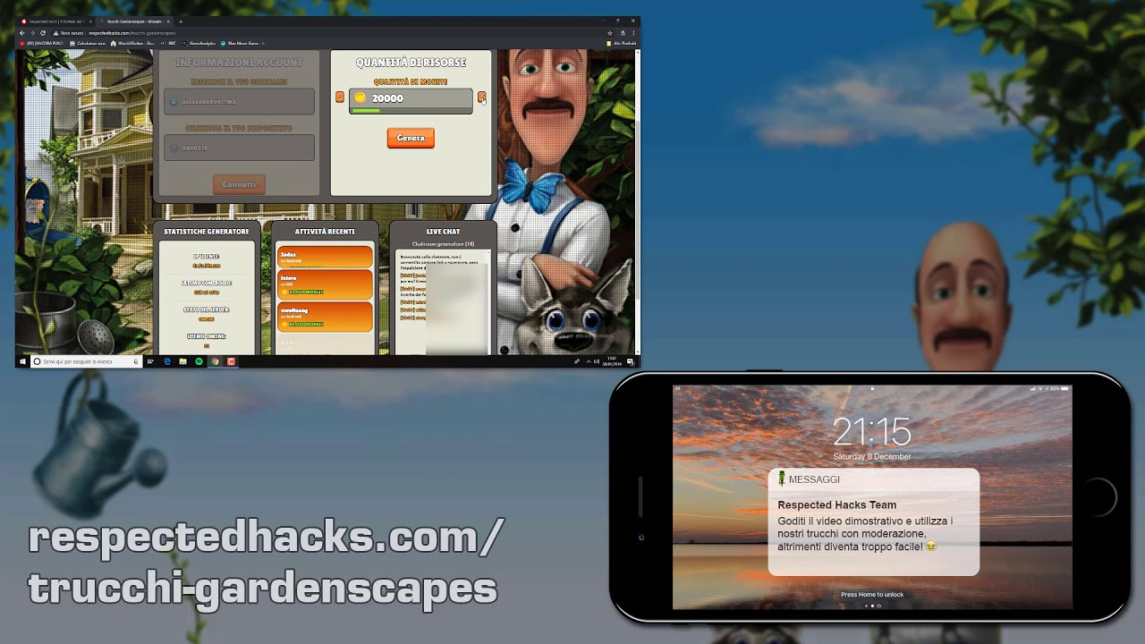 gardenscapes gratis italiano