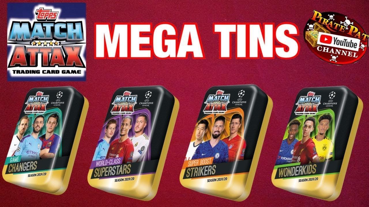 TOPPS MATCH ATTAX EXTRA SEASON 2019//20 TRADING CARD MINI TIN UEFA CHAMP EUROPA