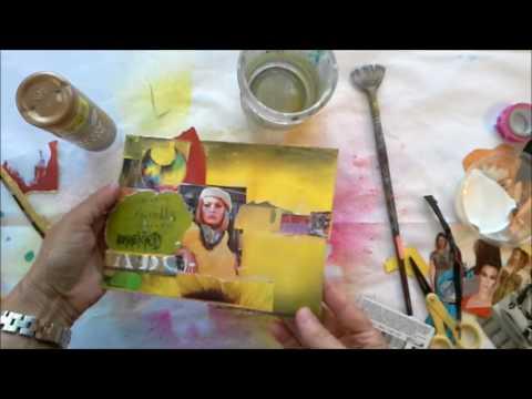 Mixed Media Collage Art Envelopes