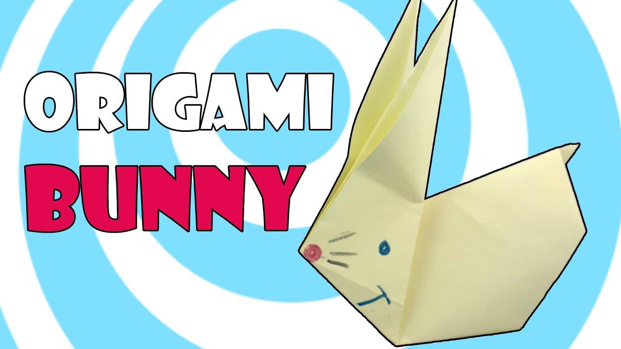 origami bunny rabbit ��� easy tutorial for kids ��� youtube