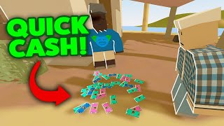 QUICK CASH AFTER SEŔVER WIPE! - Unturned Rags To Riches Roleplay 27