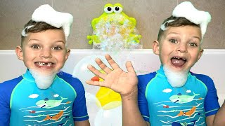 Bath Song Nursery Rhymes song for Kids from Mark and Toys