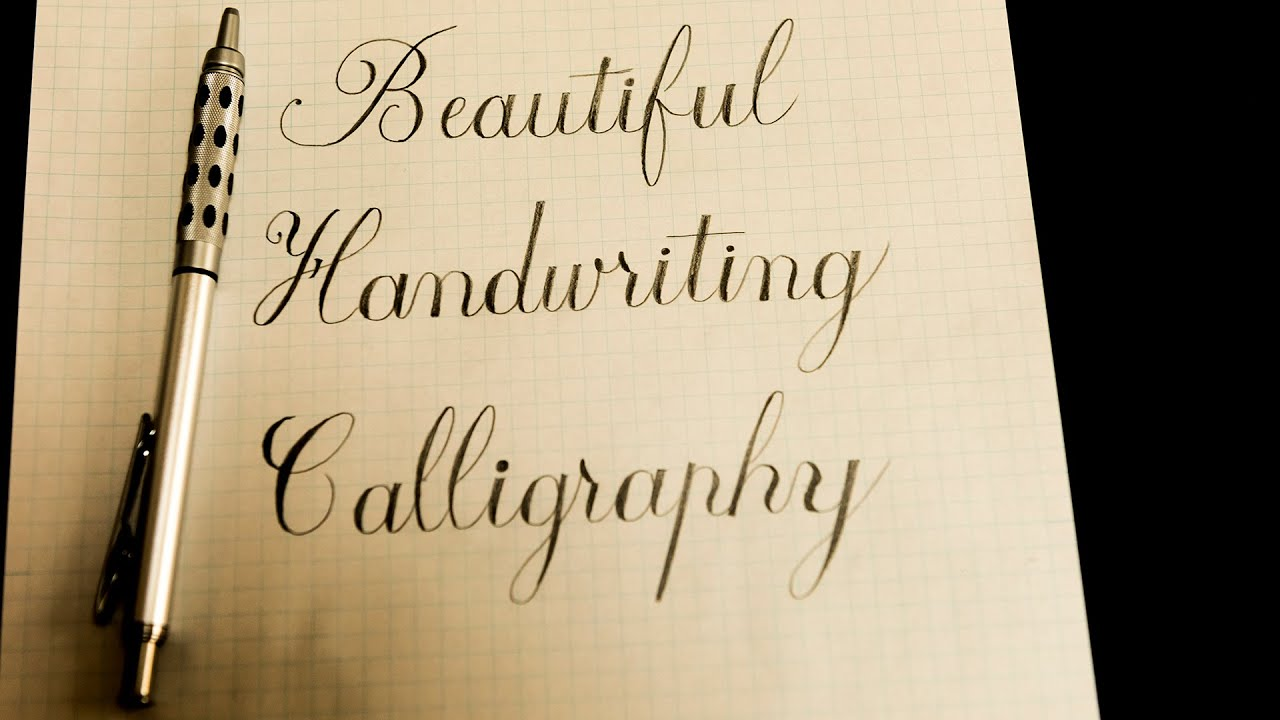Asmr mechanical pencil calligraphy writing youtube