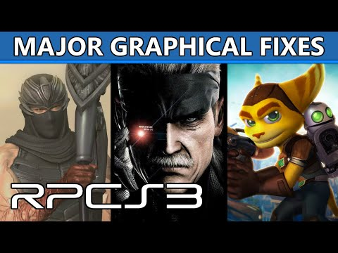 RPCS3 - Major Graphical Improvements in MGS4, inFamous 1-2, Ninja Gaiden, R&C Future, and more!
