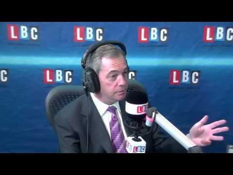 UKIP Nigel Farage accepts challenge from Nick Clegg - LBC radio, Feb 2014