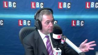 UKIP Nigel Farage accepts challenge from Nick Clegg - LBC radio, Feb 2014