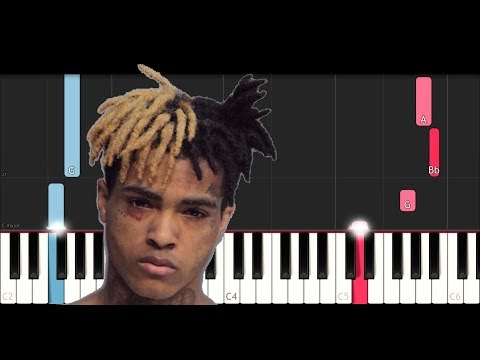 XxxTentacion - Everybody Dies In Their Nightmares (Easy Piano Tutorial)