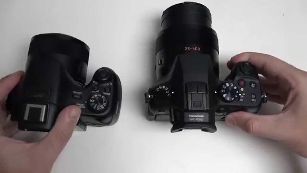 panasonic dmc fz1000 vs sony cyber shot hx400v youtube