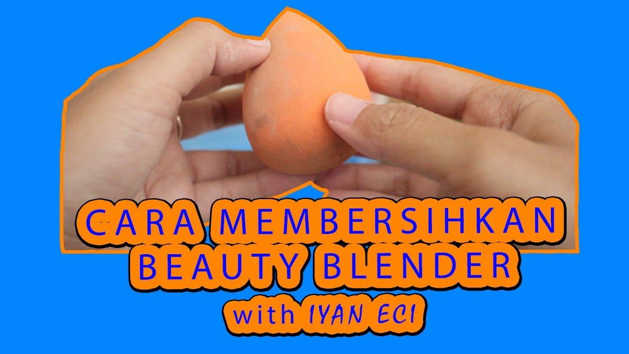 cara membersihkan beauty blender