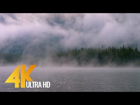 4K Fog on the Lake - Snow Lakes, Enchantments Area, USA - Nature Scenery - Trailer