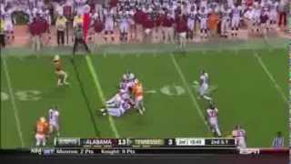 2012 #1 Alabama vs. Tennessee Highlights