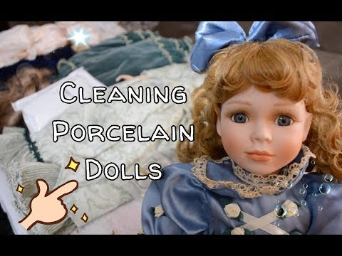 Cleaning My Vintage Porcelain Dolls With Household Items (Not A Professional)