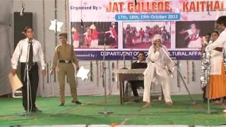 Haryanvi skit act played by girls at Jat college Kaithal by B.Ed. students हरियाणवी नाटक