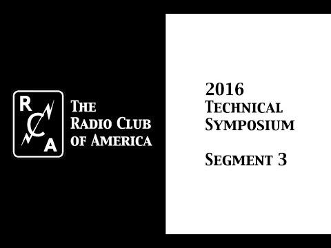 2016 RCA Technical Symposium - Segment 3 - Professor Mischa Schwartz, Ph.D.