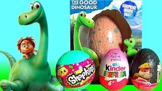 Disney The Good Dinosaur Arlo 3D Surprise Eggs Kinder Christmas Shopkins, Christmas Peppa Pig  굿 다이노