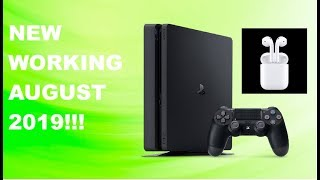 HOW TO CONNECT AIRPODS TO PS4!!!**NEW WORKING AUGUST 2019**