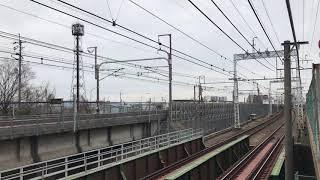 700系B4編成 最後の東海道乗り入れ (阪急京都線 横通過)  【懐かしの映像シリーズ】