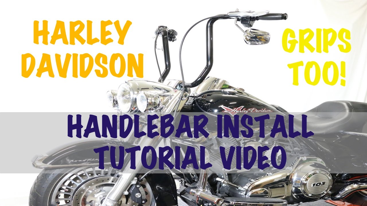 install tall ape 16 handlebars on harley davidson road king rh youtube com