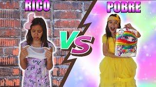 RICO VS POBRE FAZENDO AMOEBA / SLIME #5 | Biankinha