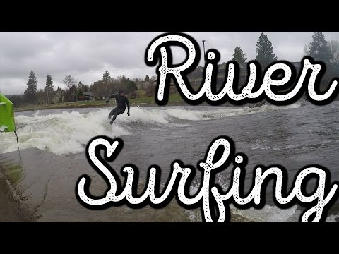 BEND OREGON RIVER SURFING !! :) VLOG:199