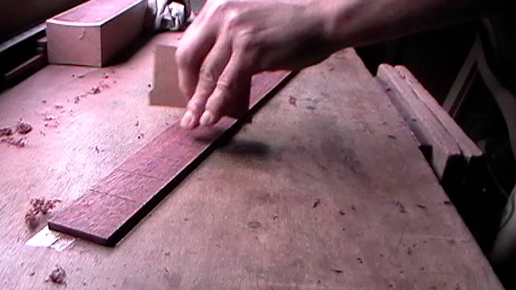 Shaping A Purpleheart Fretboard Radius Time Lapse