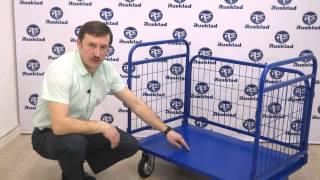 ТС-РС. Платформенная тележка с сетчатыми бортами и складными ручками.(, 2015-04-14T13:17:19.000Z)