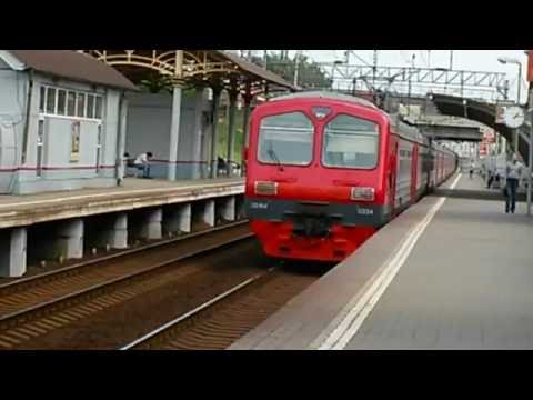 Электропоезд ЭД4М - 0334 на станции Чухлинка
