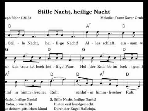 """""""weihnachtslieder noten"""" _stille_nacht_akkorde.wmv"""