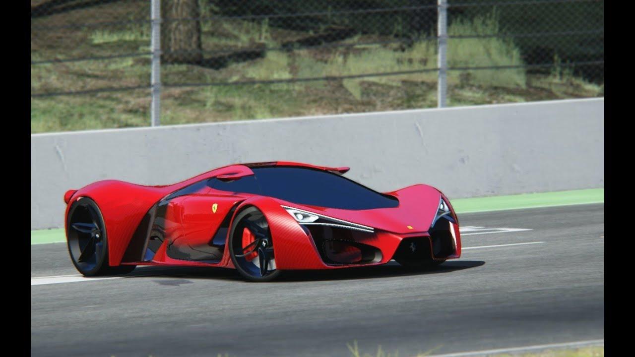 Ferrari F80 Concept At Circuit De Barcelona Catalunya