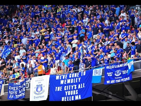 Everton F.C Best Chants & Songs with LYRICS on screen!
