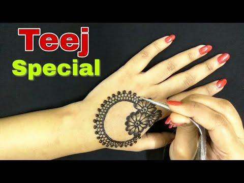 Teej Special Latest Mehndi Designs | Unique Henna Designs | Latest Jewellery Mehndi Designs | 2018