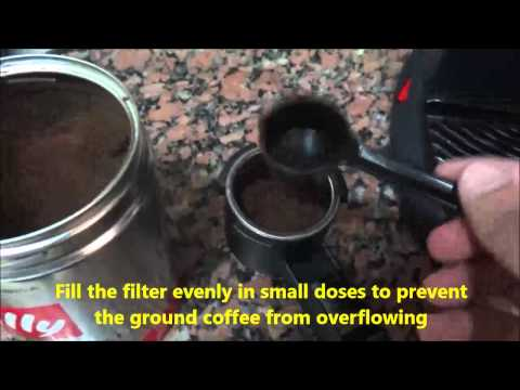 Easy Steps how to make cappuccino with Delonghi EC9