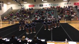 DRHS 1st Round Competition Cheer Conference Tournament 10/21/2015