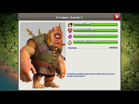 Clash Of Clans - NEW TROOP!!! CHALLENGE!!! CYCLOPS GIANT (Create Your Own)