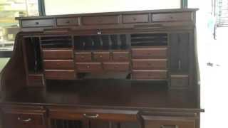 Solid Wood Maple Roll Top Desk